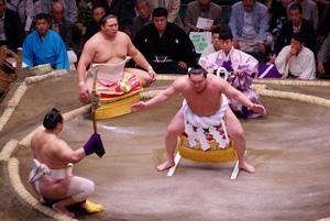 cérémonie dohyô-iri du yokozuna Hakuhô