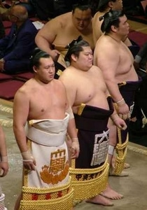 makuuchi en tablier de cérémonie